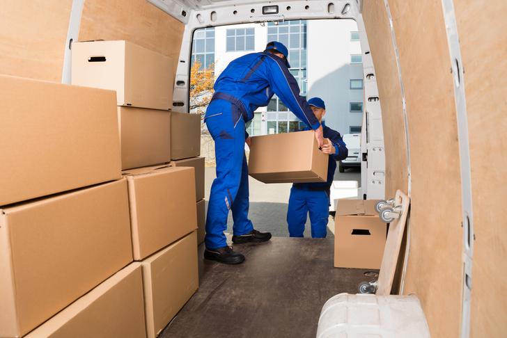 two men delivering parcels