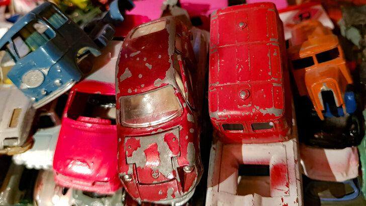 Old scrapped vans